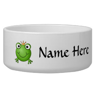 Frog Prince. Happy Frog. Dog Water Bowl
