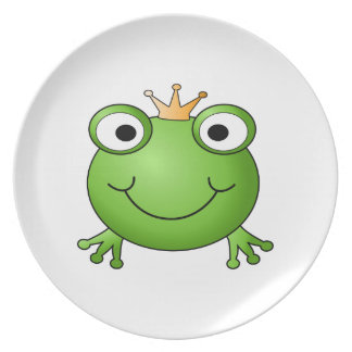 Frog Prince. Happy Frog. Dinner Plates