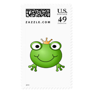 Frog Prince. Happy Frog. Postage