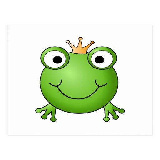 Frog Prince. Happy Frog. Postcards