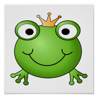 Frog Prince. Happy Frog. Print