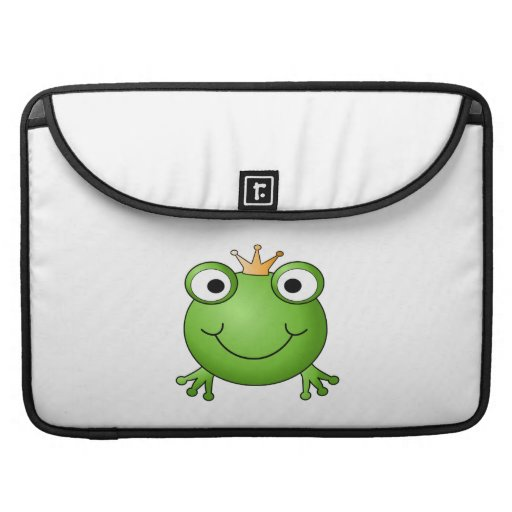 Frog Prince. Happy Frog. Sleeve For MacBooks