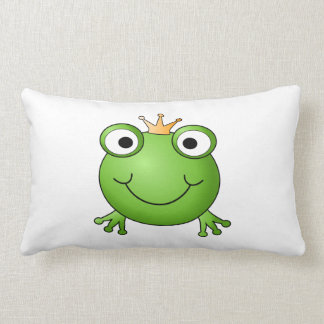 Frog Prince. Happy Frog. Throw Pillow