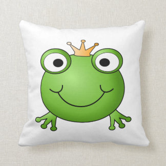 Frog Prince. Happy Frog. Throw Pillows