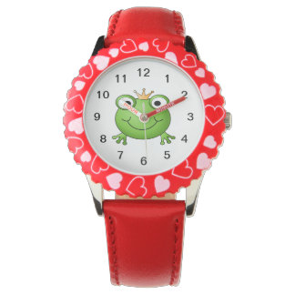 Frog Prince. Happy Frog. Wristwatches