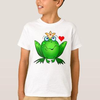 Frog Prince Heart and Crown Cartoon Frog Shirt