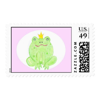 Frog Prince in Circle Postage