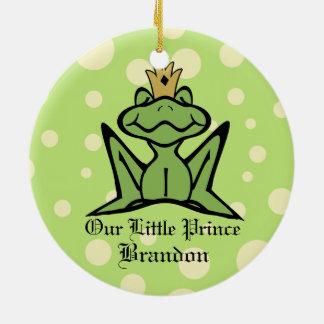 Frog Prince Keepsake Photo Ceramic Ornament