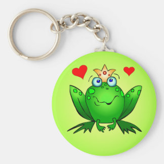 Frog Prince Keychain with Hearts
