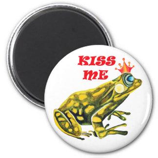 Frog Prince Kiss Me fridge magnet