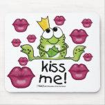 Frog Prince Kiss Me Mouse Pad