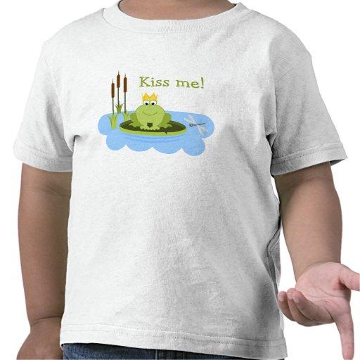 Frog Prince Kiss Me T Shirts