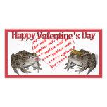 Frog Prince & Kissing Frog Valentine Photo Frame Photo Greeting Card