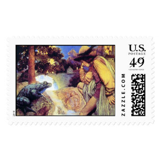 Frog Prince, Maxfield Parrish - Postage Stamp