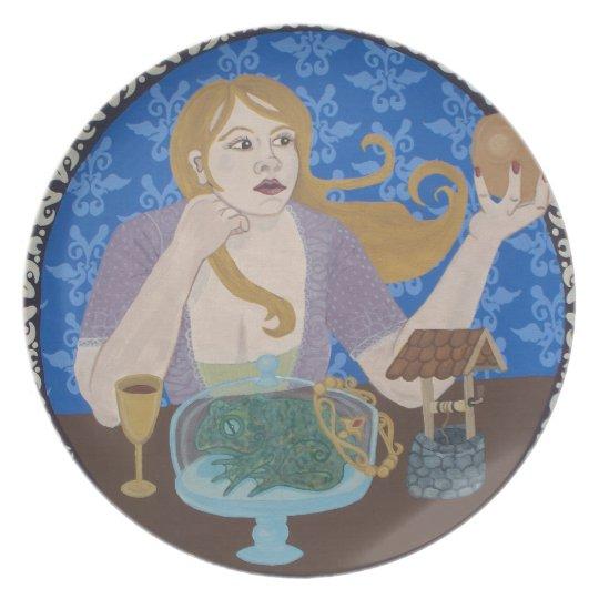 Frog Prince Melamine Plate