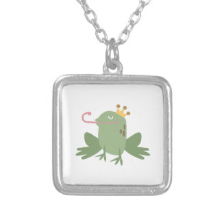 Frog Prince Square Pendant Necklace