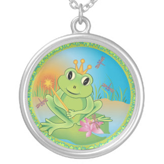 Frog Prince Round Pendant Necklace
