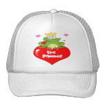 Frog Prince On A Red Heart Mesh Hats