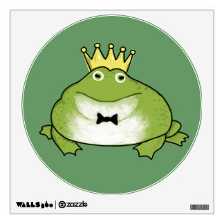 Frog Prince on Green (Customizable) Wall Sticker