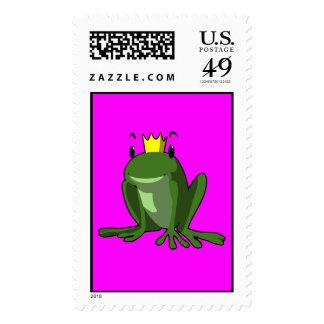 Frog Prince Postage stamp