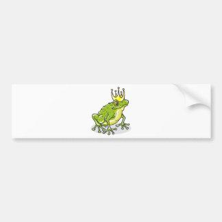 Frog Prince Princess Sketch Bumper Sticker