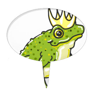 Frog Prince Princess Sketch Cake Topper
