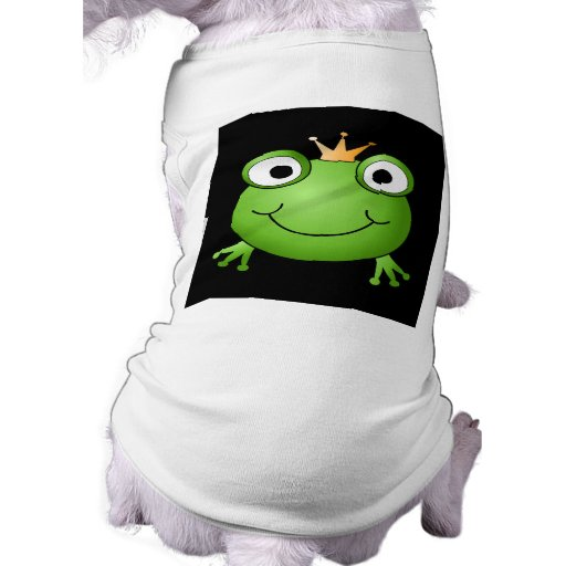 Frog Prince. Smiling Frog with a Crown. Pet Tee Shirt