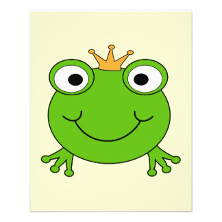 Frog Prince. Smiling Frog with a Crown. Flyer