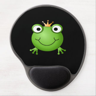 Frog Prince Smiling Frog with a Crown Gel Mouse Pads