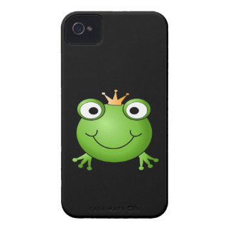 Frog Prince. Smiling Frog with a Crown. iPhone 4 Case