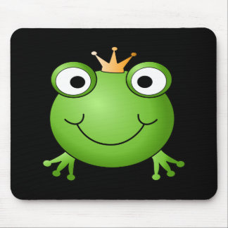 Frog Prince Smiling Frog with a Crown Mouse Pad