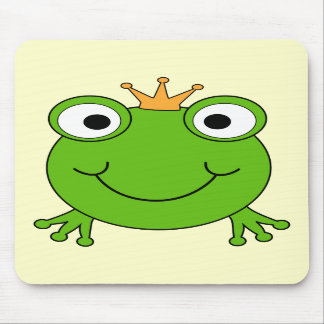 Frog Prince Smiling Frog with a Crown Mousepad