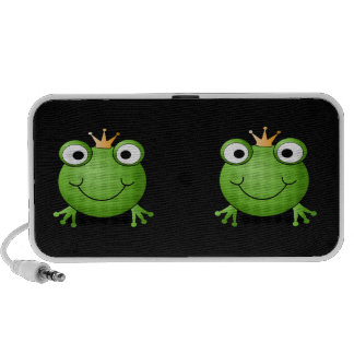 Frog Prince. Smiling Frog with a Crown. PC Speakers