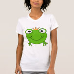Frog Prince. Smiling Frog with a Crown. Tee Shirt
