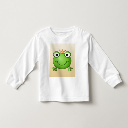 Frog Prince. Smiling Frog with a Crown. Tshirt