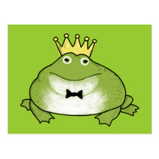 Frog Prince -The Handsome Crowned Amphibian Awaits Postcard