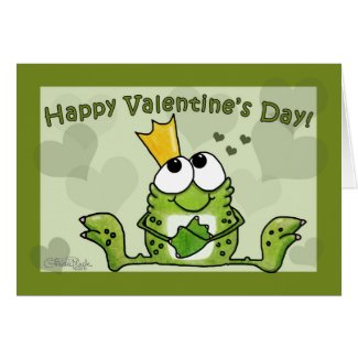 Frog Prince Valentine Greeting Cards