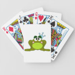 Frog Prince With Blue Crown Cartoon Bicycle Poker Cards