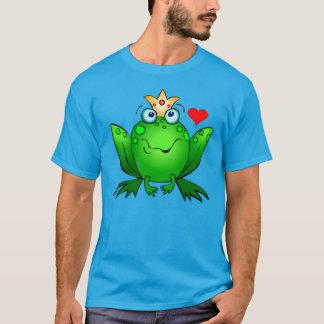 Frog Prince with Heart Cartoon Frog Shirt