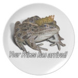 "Frog Prince - ""Your Prince Has Arrived!"" Dinner Plates"