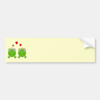 Frog Princess and Frog Prince, with hearts. Bumper Stickers