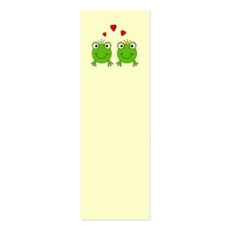Frog Princess and Frog Prince, with hearts. Business Cards