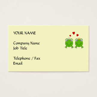 Frog Princess and Frog Prince, with hearts. Business Card