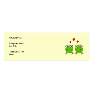 Frog Princess and Frog Prince, with hearts. Business Card Template
