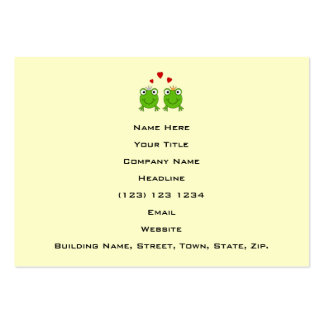 Frog Princess and Frog Prince, with hearts. Business Card Templates