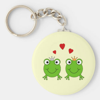 Frog Princess and Frog Prince, with hearts. Keychain