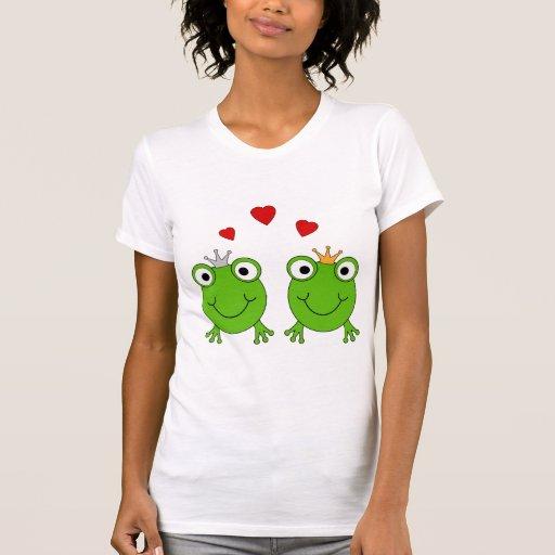 Frog Princess and Frog Prince, with hearts. Tees