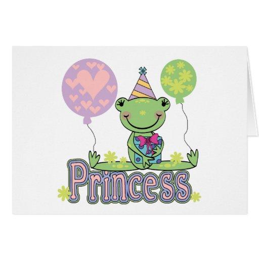 Frog Princess Birthday Tshirts and Gifts Cards