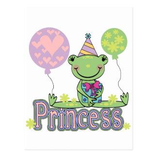 Frog Princess Birthday Tshirts and Gifts Postcard
