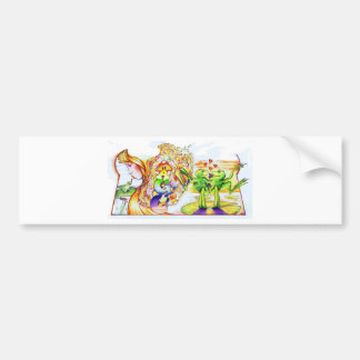 Frog Princess Bumper Sticker